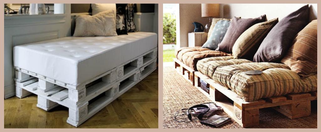 Ecco come costruire un divano con i bancali fai da te for Divano bancali