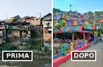 Villaggio indonesiano: dal degrado all'arcobaleno